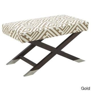Sunpan Viviann Fabric Geo Gold Bench