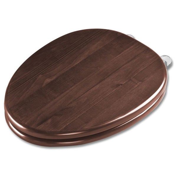 Toto Round Maple and Polished Chrome Soft-close Toilet Seat