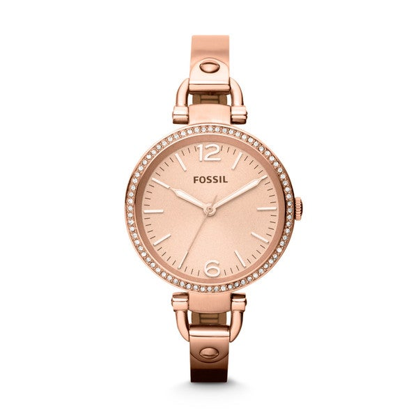Fossil Women's Georgia ES3226 Rose-Goldtone Stainless Steel Analog Quartz Watch with Rose-Goldtone Dial