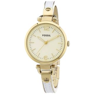 Fossil Women's Georgia ES3260 Two-tone Stainless Steel Analog Quartz Watch with Goldtone Dial