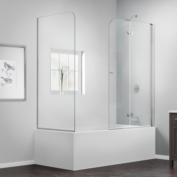 Hinged Glass Tub Enclosures : Dreamline aqua fold to in w d h