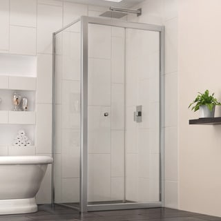 Dreamline Butterfly 34.8125 in. D x 34.8125 in. W x 72 in. H Frameless Bi-Fold Shower Door, Clear Glass