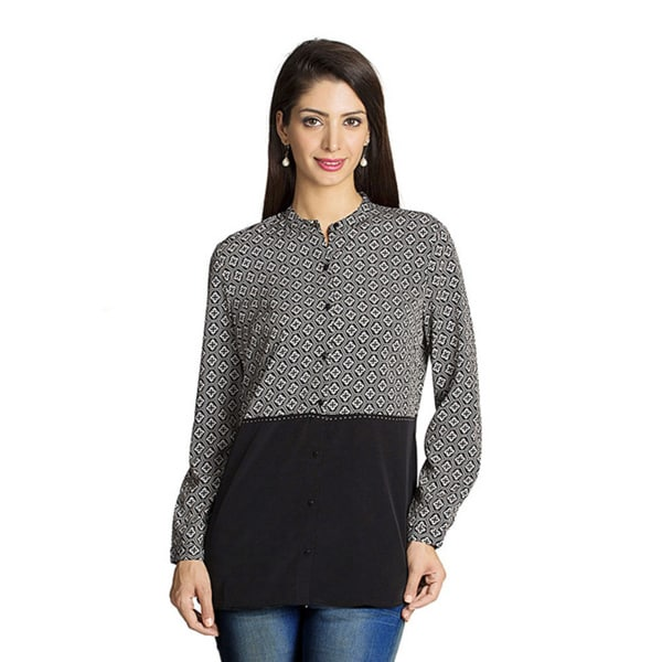 Mohr Women's Printed/ Solid Long Sleeve Top (India) 13293034