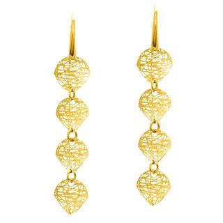 14k Yellow Gold Stilnovo Potato 4-chip Drop Earrings