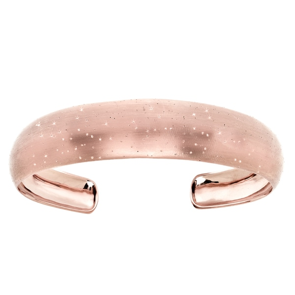 Sterling Silver Rose Goldplated Stardust Cuff