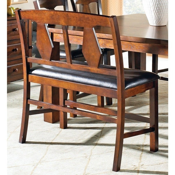 Counter Height Dining Bench : Lansing Burnished Medium Oak Counter-height Dining Bench - Overstock ...