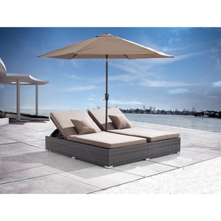 Zuo Atlantic Double Espresso Chaise Lounge
