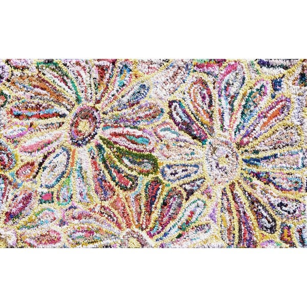 Anthro Flower Area Rug (7'6 x 9'6)