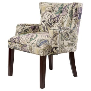 Margo Paisley Tufted Back Accent Chair