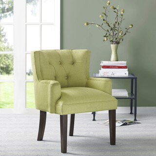 Margo Light Green Tufted-Back Accent Chair