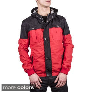 Men's Colorblocked Short Parka