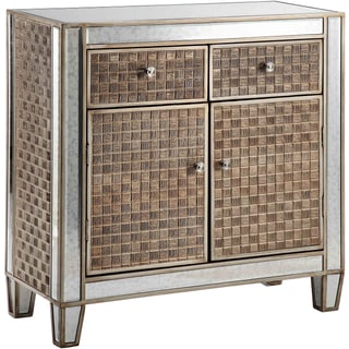 Gosla Patterned Panel and Silver Leaf Cabinet