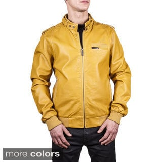 Men's Leatherette Iconic Racer Jacket