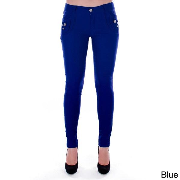 Junior's Posh Pocket Skinny Slacks Pants