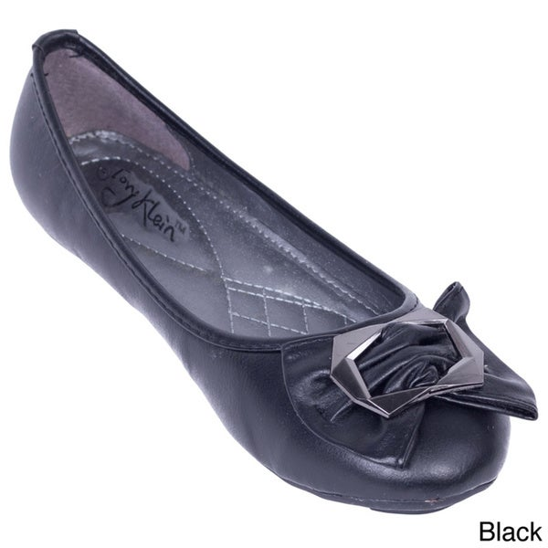 Women's Octagon Bow Ballerina Flats