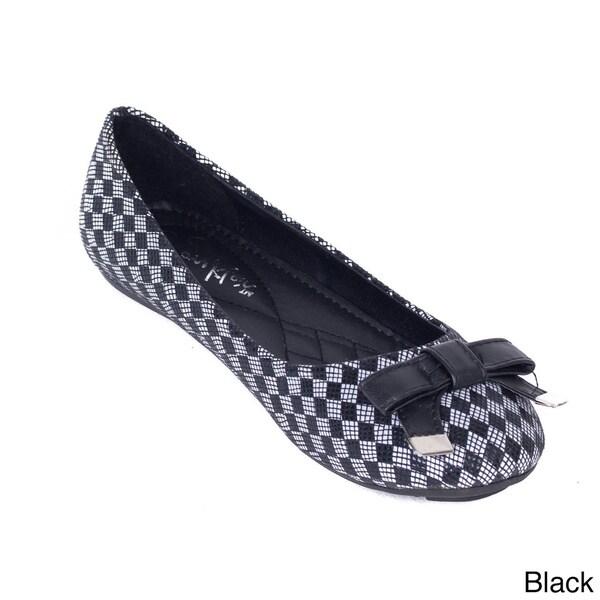 Women's Checkered Ballerina Flats