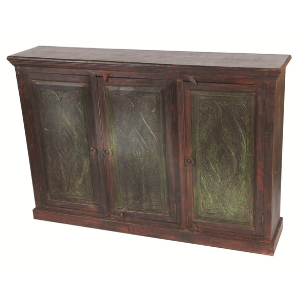 Historic 3 Carved Doors Buffet
