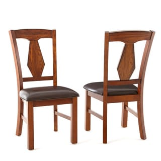 Lansing Medium Oak and Leatherette Side Chairs (Set of 2)