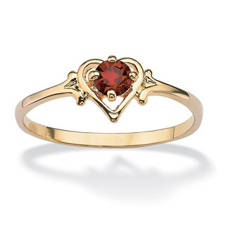 Lillith Star Birthstone Crstyal Heart Ring