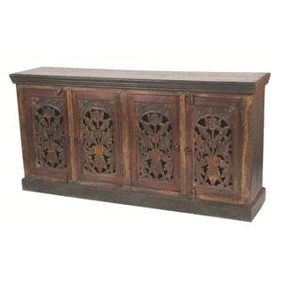 Historic 4 Carved Doors Buffet