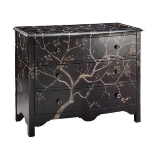 Rivendell Black Tree-painted Accent Chest