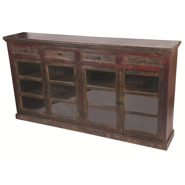 Historict 4 Glass Doors 4 Drawers Buffet