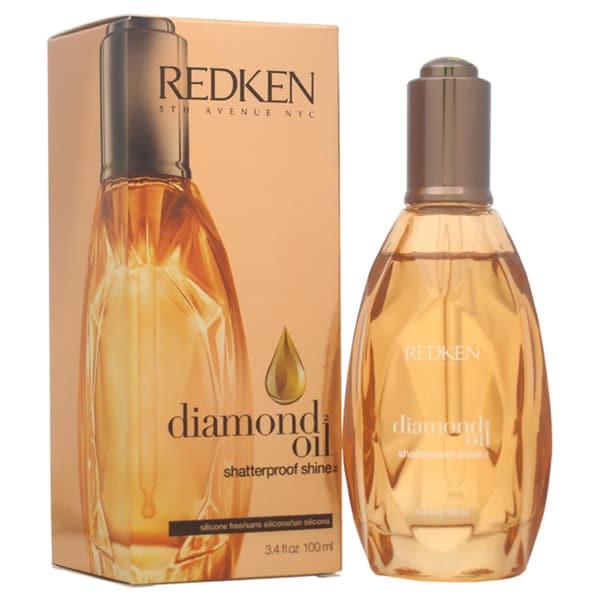 Redken Diamond Oil Shatterproof Shine Silicone Free Medium Hair 3.4-ounce Oil Treatment