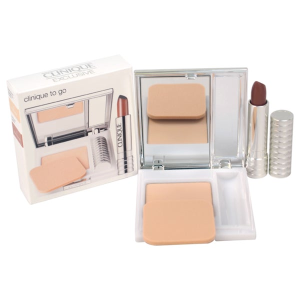 Clinique Superpowder Double Face Powder Travel Club 2-piece Kit