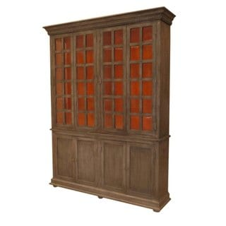 Belleview 8 Door Cabinet with Hutch and Base (Warm)