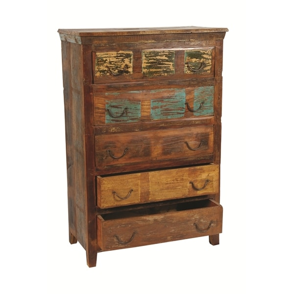 Beech 5 Drawer Chest