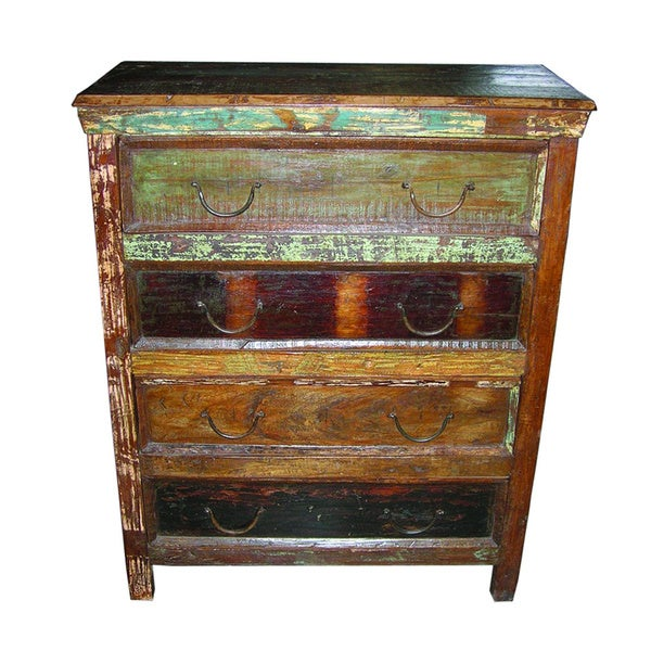 Beech Chest with 4 Drawers