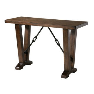 Westport Cherry Finish Distressed Sofa Table