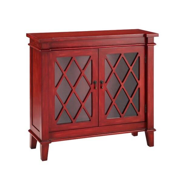 Goshen Byzantine Red Birchwood and Glass Cabinet