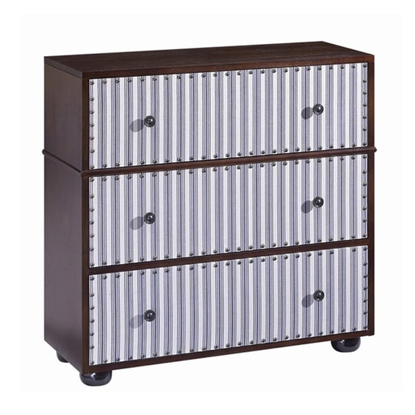 Ticking Striped Accent Chest
