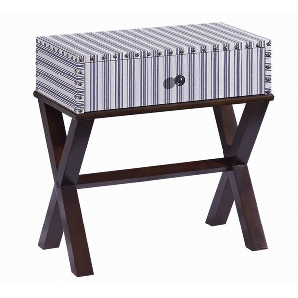 Ticking Striped One-drawer Accent Table