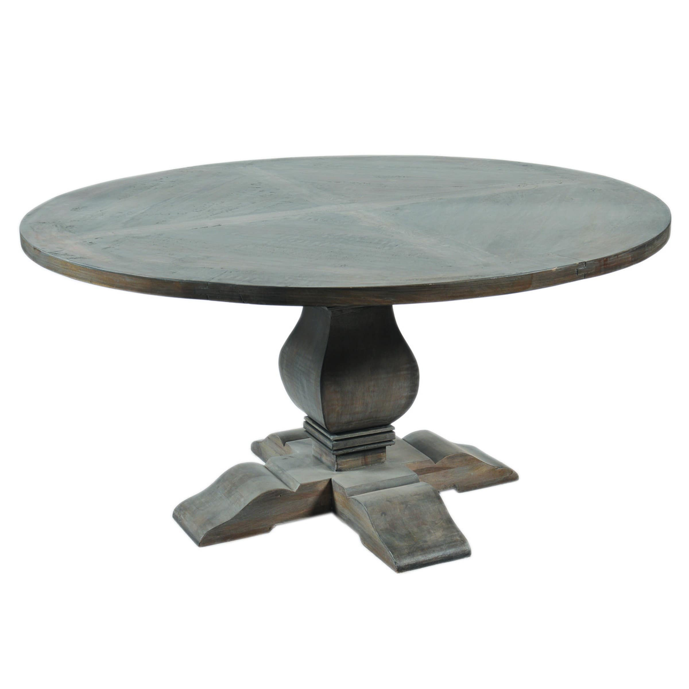 Zinc Round Dining Table Images Furthermore Primitive