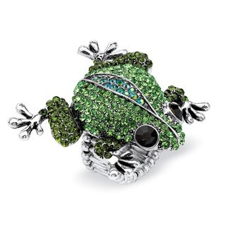 PalmBeach Crystal Frog Stretch Fashion Ring Bold Fashion