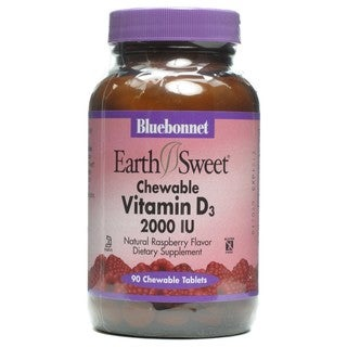 Bluebonnet EarthSweet Chewable Vitamin D3 (90 Chewable Tabs)