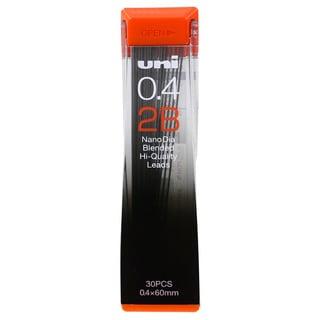 Uni-Ball Nano Lead Mechanical Pencil Lead Refills (0.4mm, 4 Shade Choices) (Pack of 15)