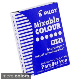 Pilot Mixable Color Ink Refill Cartridges for Parallel Pen (Pack of 6)