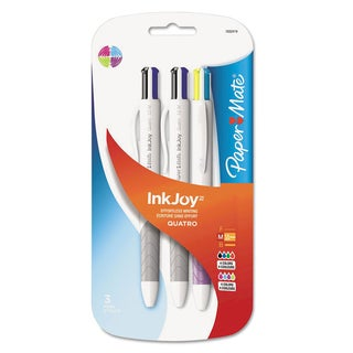 PaperMate InkJoy Quatro Medium Point Assorted Color Ballpoint Pens (Pack of 3)