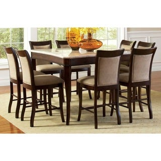 Madaleine Counter-height Marble Veneer Dining Set