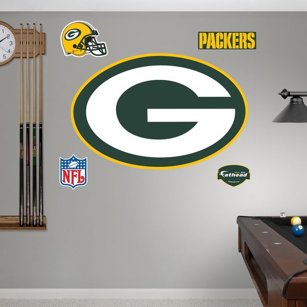 Fathead Green Bay Packers Logo Wall Decals