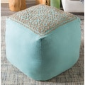 Beth Lacefield: Hand-crafted Cleopatra Linen 18-inch Square Pouf