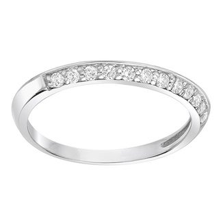 Sterling Silver 1/5ct TDW Knife-edge Diamond Wedding Band (G-H, SI1-SI2)