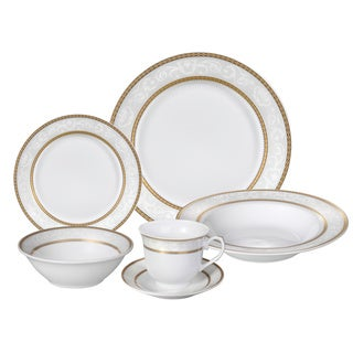 Lorren Home Trends Amelia 4-serving Porcelain Dinnerware Set