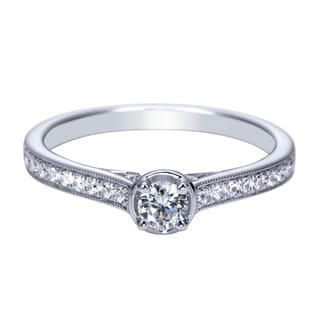 14k White Gold 1/3ct TDW Contemporary Diamond Ring