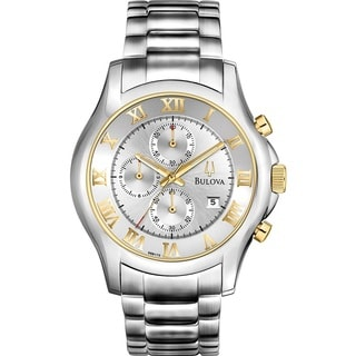 Bulova Men's 98B175 Two Tone Calenerder Date Chronograph Watch