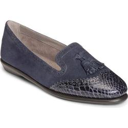 Women's Aerosoles Winning Bet Navy Suede/Snake