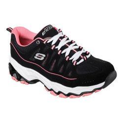 Women's Skechers Encore Be Seen Training Shoe Black/Coral